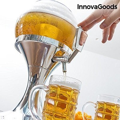The new Beer Dispenser, 3.5 liter draft beer tap on tap, BPA-free dispenser with ice cube tray for soft drinks and cold drinks