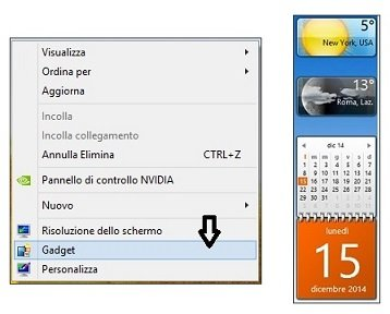Gadget su windows 8