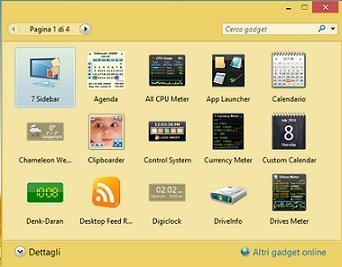 Gadget su windows 10