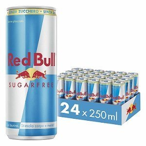 Red Bull Energy Drink Sugarfree 250ml, Cartone da 24 Lattine