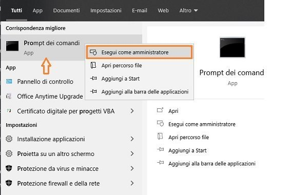 Risolvere il problema DNS PROBE FINISHED NXDOMAIN con prompt dei comandi
