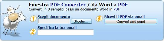 Convertire files in Pdf online