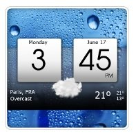 Digital clock e world weather