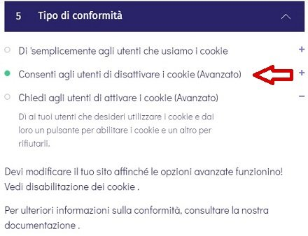 Come bloccare i cookie con Osano