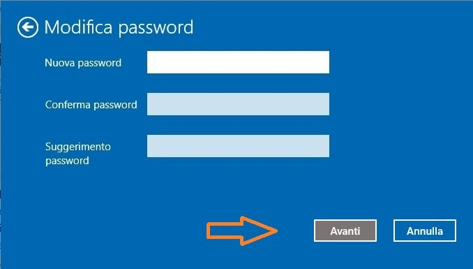 Eliminare la password da Windows 10